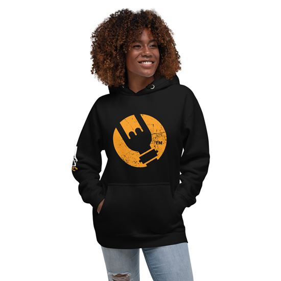 Picture of Bad Ass Icon Hoodie - Medium Black