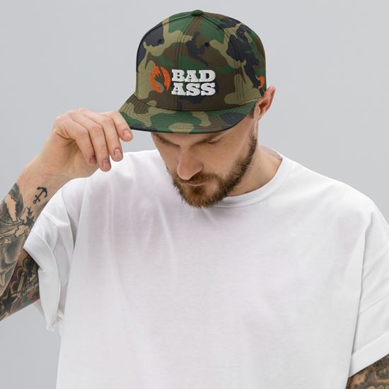 Picture of Bad Ass Icon Hat - Snapback Camo