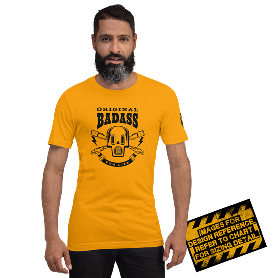 Picture of Bad Ass 4 Life T-Shirt - 2XL Gold