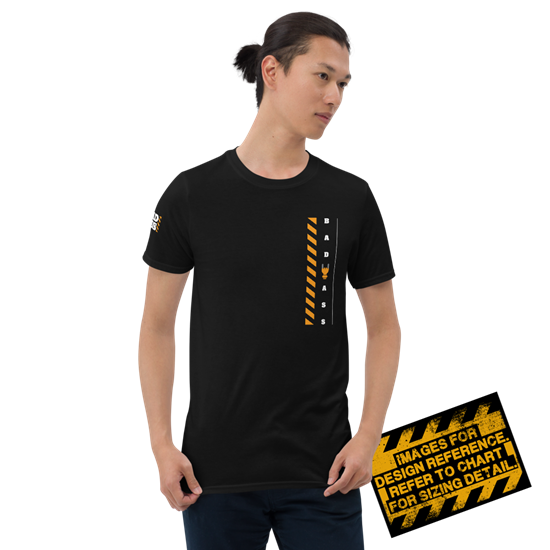 Picture of Bad Ass At Work T-Shirt - Small Black