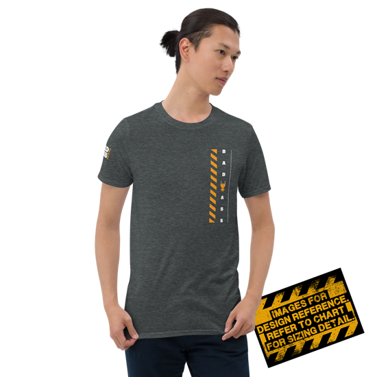 Picture of Bad Ass At Work T-Shirt - Small Dark Heather