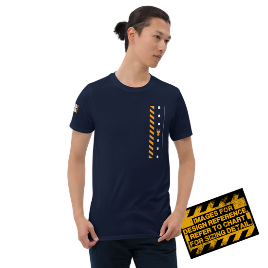 Picture of Bad Ass At Work T-Shirt - Medium Navy