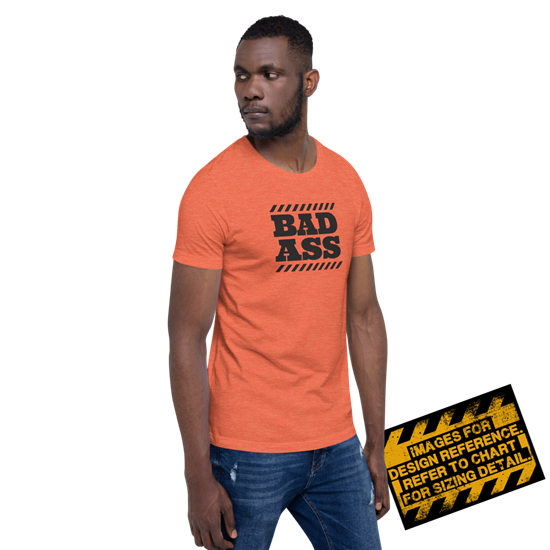 Picture of Bad Ass Zone T-Shirt - Small Heather Orange