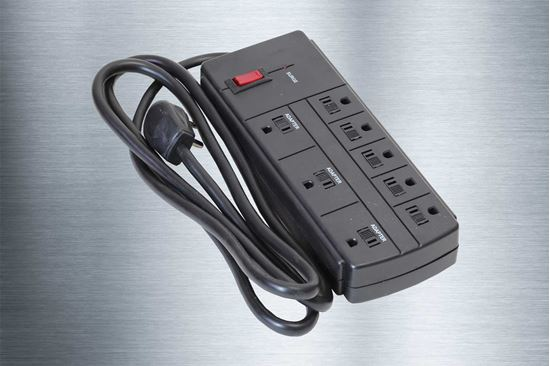 Picture of 8 Outlet Grounded Surge Protector 1200 Joules