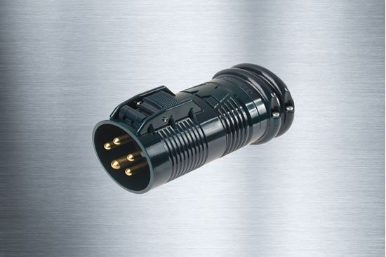 Picture of 60A-277/480V 4 Pole 5 Wire Pin & Sleeve Exposition Plug