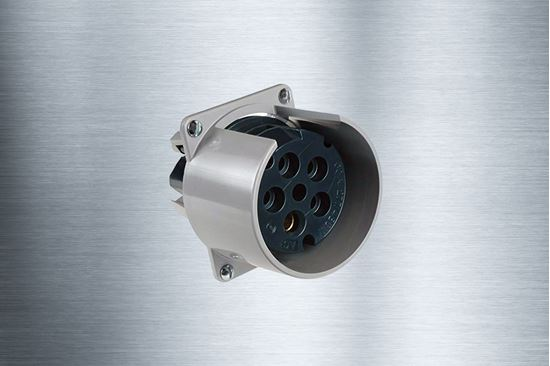 Picture of 60A-277/480V 4 Pole 5 Wire Pin & Sleeve Exposition Outlet