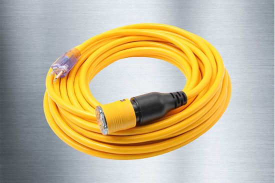 Picture of 100 Foot 12/3 SJTW Click-to-Lock Lighted Extension Cord