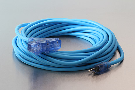 Picture of 100 Foot 12/3 SJEOW Bad Ass Cold Weather Lighted Triple Tap Extension Cord