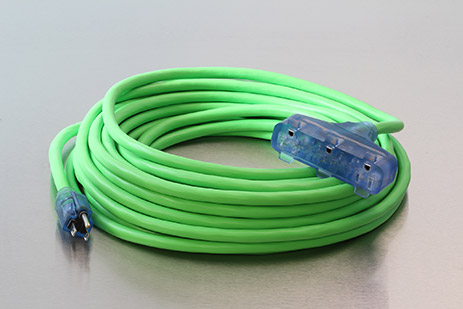 Picture of 100 Foot 12/3 SJEOW Cold Weather Lighted Triple Tap Extension Cord