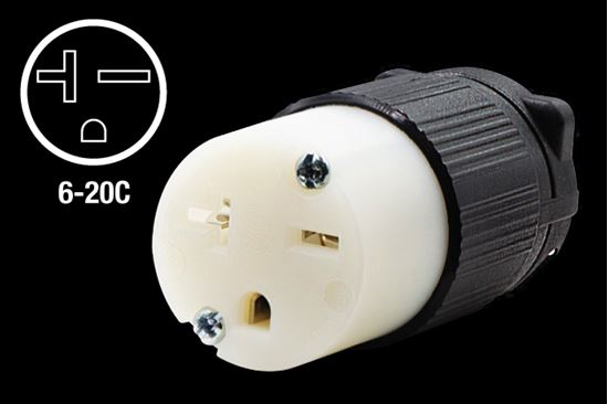 Picture of Century 20A-250V Straight Blade Connector NEMA 6-20C