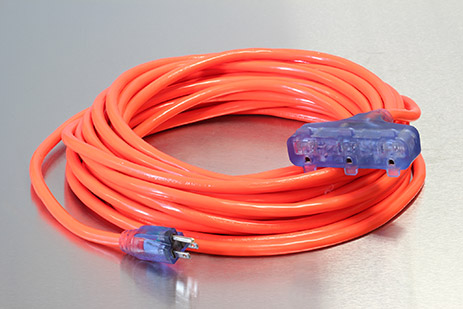 Picture of 100 Foot 12/3 SJTW Bad Ass Industrial Grade Lighted Triple Tap Extension Cord