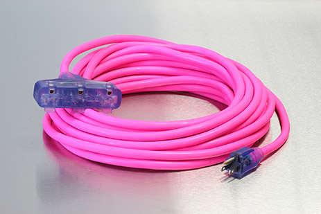 Picture of 100 Foot 12/3 SJTW Industrial Grade Lighted Triple Tap Extension Cord