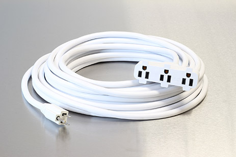 Picture of 50 Foot 12/3 SJTW Special Event Triple Tap Extension Cord